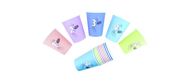 ▲紙コップセット デザイン例 ※5個1セット